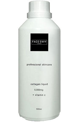 Collagen Drink Shots 5,000mg, 28 Day Supply, Summer Fruits Flavour, 500ml Bottle - Face Envy London