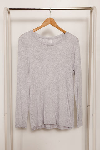 Long Sleeve Straight Hem Crew Neck Tee