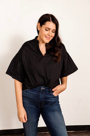 Arden Notch Collar Blouse