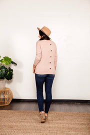 Pink Button Back Sweater