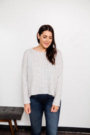 Flecked Ribbed Sweater