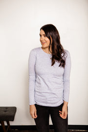 Long Sleeve Cotton Crew Neck Tee