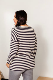 Striped Contrast Pocket Tunic