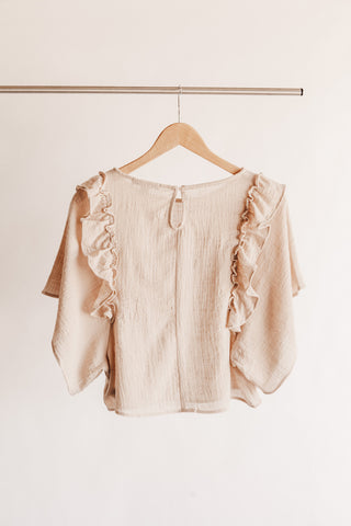 Boxy Ruffle Sleeve Top