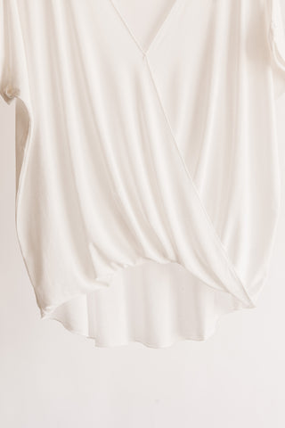 Draped Cross Front Knit Top