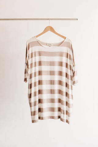 Striped Drop Shoulder Tunic