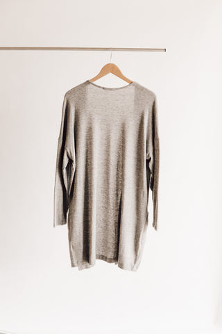 Longline Open Sweater Cardigan