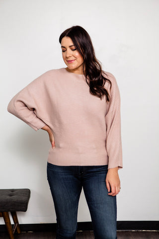 Ribbed Dolman Sweater