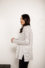 Striped Drop Sleeve Knit Tunic