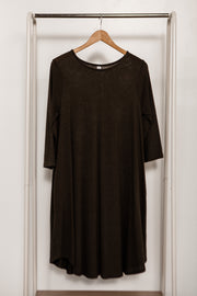 3/4 Sleeve Lightweight Sweater Dress
