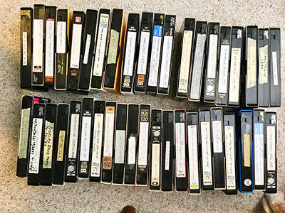 Stacks of VHS Tapes