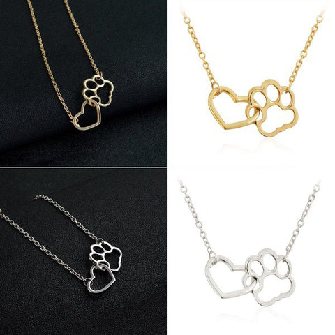 Love for Life - Paw and Heart Necklace