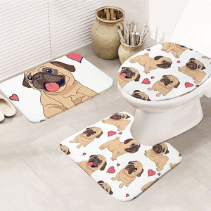 """Pug Love"" 3 Piece Bathroom Collection"