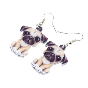 Pug Gold Earrings