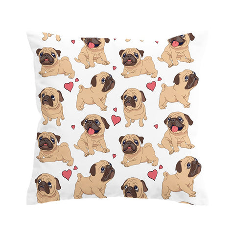 "Ultimate ""Pug Love"" Cushion Cover"