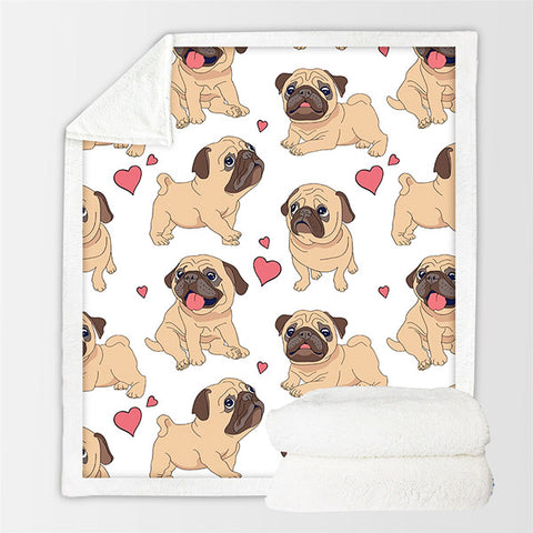Image of Cute Pug Blanket