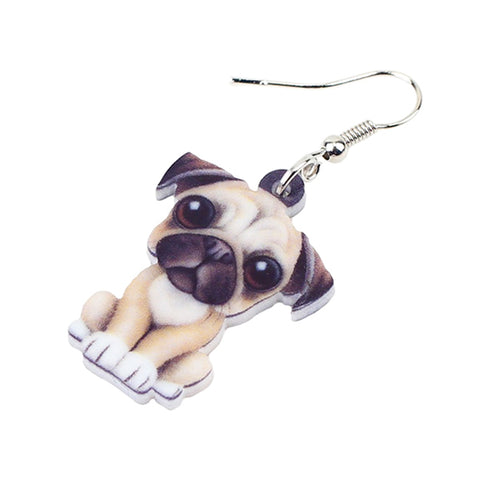 Pug Dog Earrings