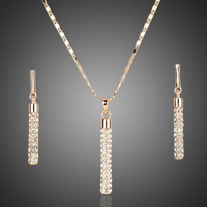 Azora Austrian Crystal Earrings and Necklace Set - Jyassy Collection
