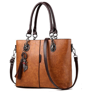 Emma Leather Hand-Shoulder Bag - Jyassy Collection