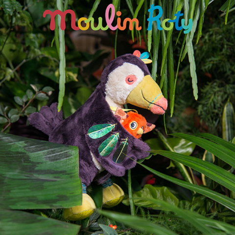 MOULIN ROTY Toucan wooden rattle