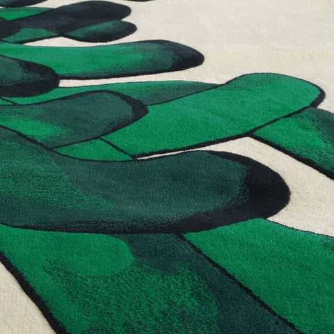 LA CHANCE Rug Anemone Shades of Green 280x150cm