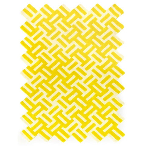 LA CHANCE Rug Cross Yellow & White 252x168cm