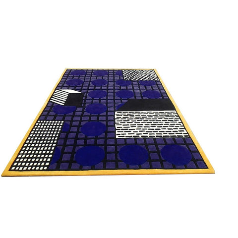 LA CHANCE Rug Tapigri Yellow Purple Black 240x160cm