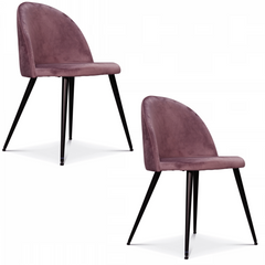OPJET PARIS Set of 2 Chairs Ingrid Black Legs