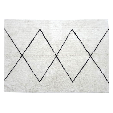 OPJET PARIS Rug Ania Berber White & Black