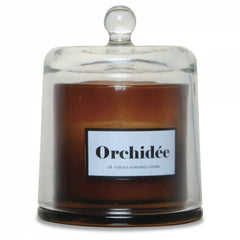 OPJET PARIS Candle White Orchid In Glass Cloche