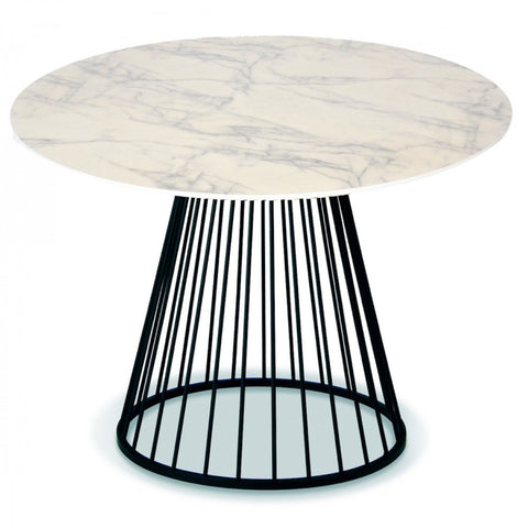 OPJET PARIS Dining Table Romane MDF Marble Effect 110cm