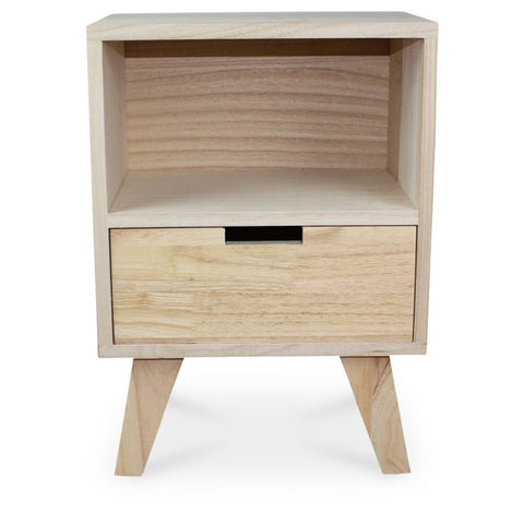 OPJET PARIS Bedside Table Boutique 1 Drawer Wood 50cm