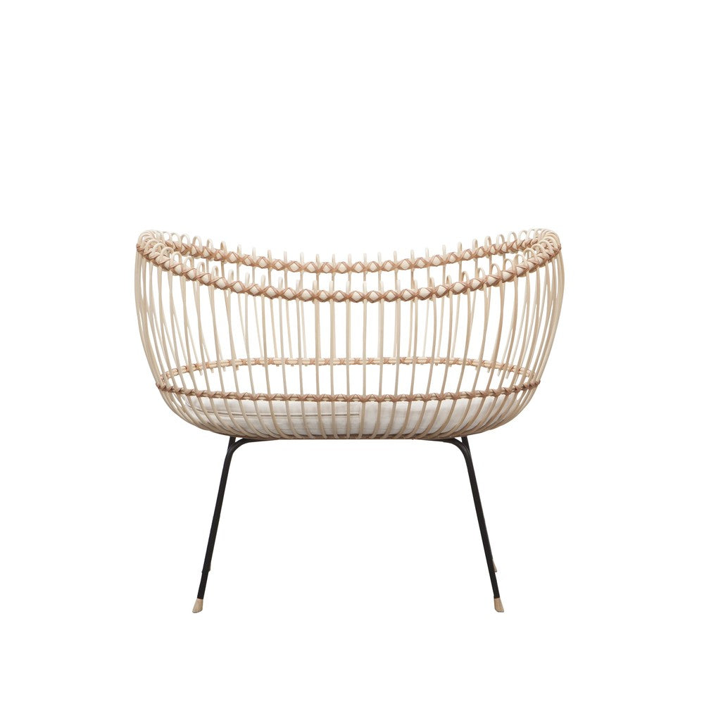 BERMBACH HANDCRAFTED Baby Crib Lola Rattan