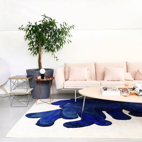 LA CHANCE Rug Anemone Shades of Blue 280x150cm