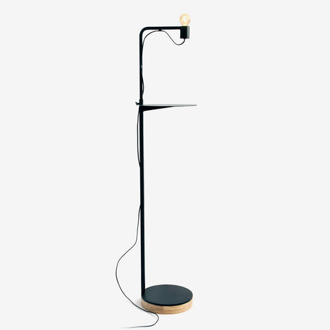 RADAR INTERIOR Floor Lamp Grafit with shelf
