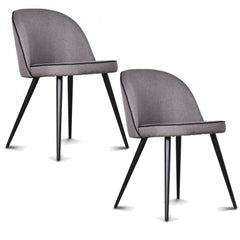 OPJET PARIS Set of 2 Chairs Ingrid Black Seams Black Legs