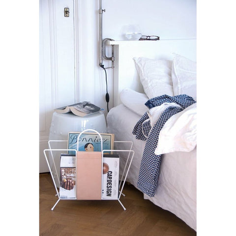 MAZE Magazine Rack Suitcase White & Nature
