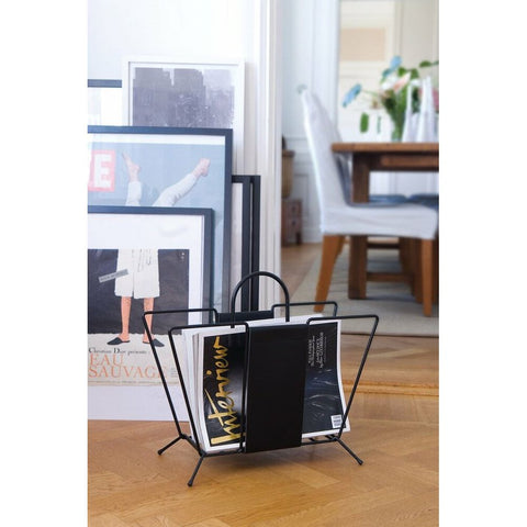 MAZE Magazine Rack Suitcase Black