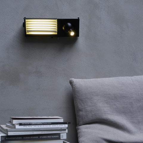 DCW EDITIONS Wall Light Biny Bedside Left All Black