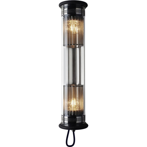 DCW EDITIONS Wall Light In The Tube 100-500 Silver Mesh Black Stopper