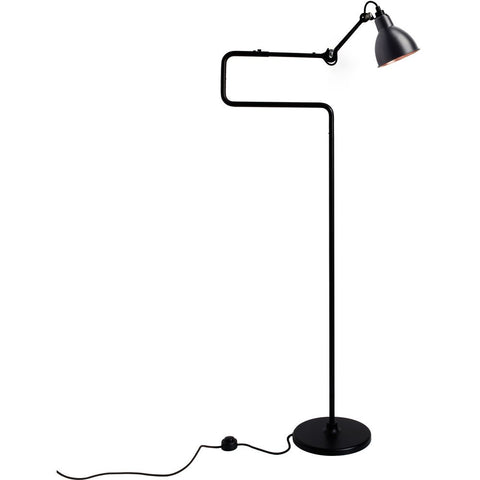 DCW EDITIONS Floor Lamp Lampe Gras 411 Black Body Copper Inside