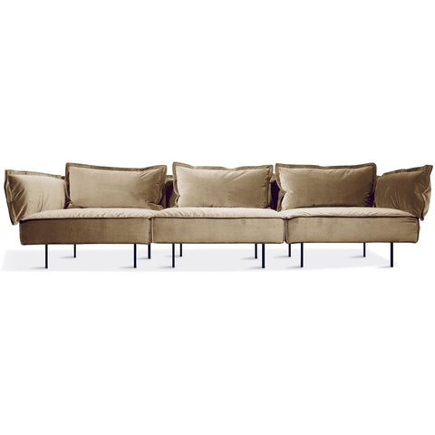 HANDVÄRK The Modular Sofa 1-Seat Lounge Chair Sand Velvet