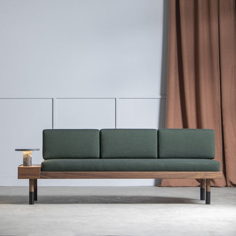KANN DESIGN Sofa Mid Wool Fabric Green