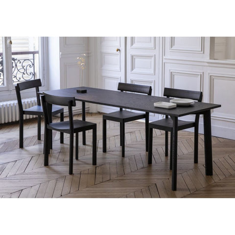 KANN DESIGN Dining Table Galta Black Oak 200cm