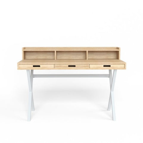 HARTO Desk Hyppolite Oak & White