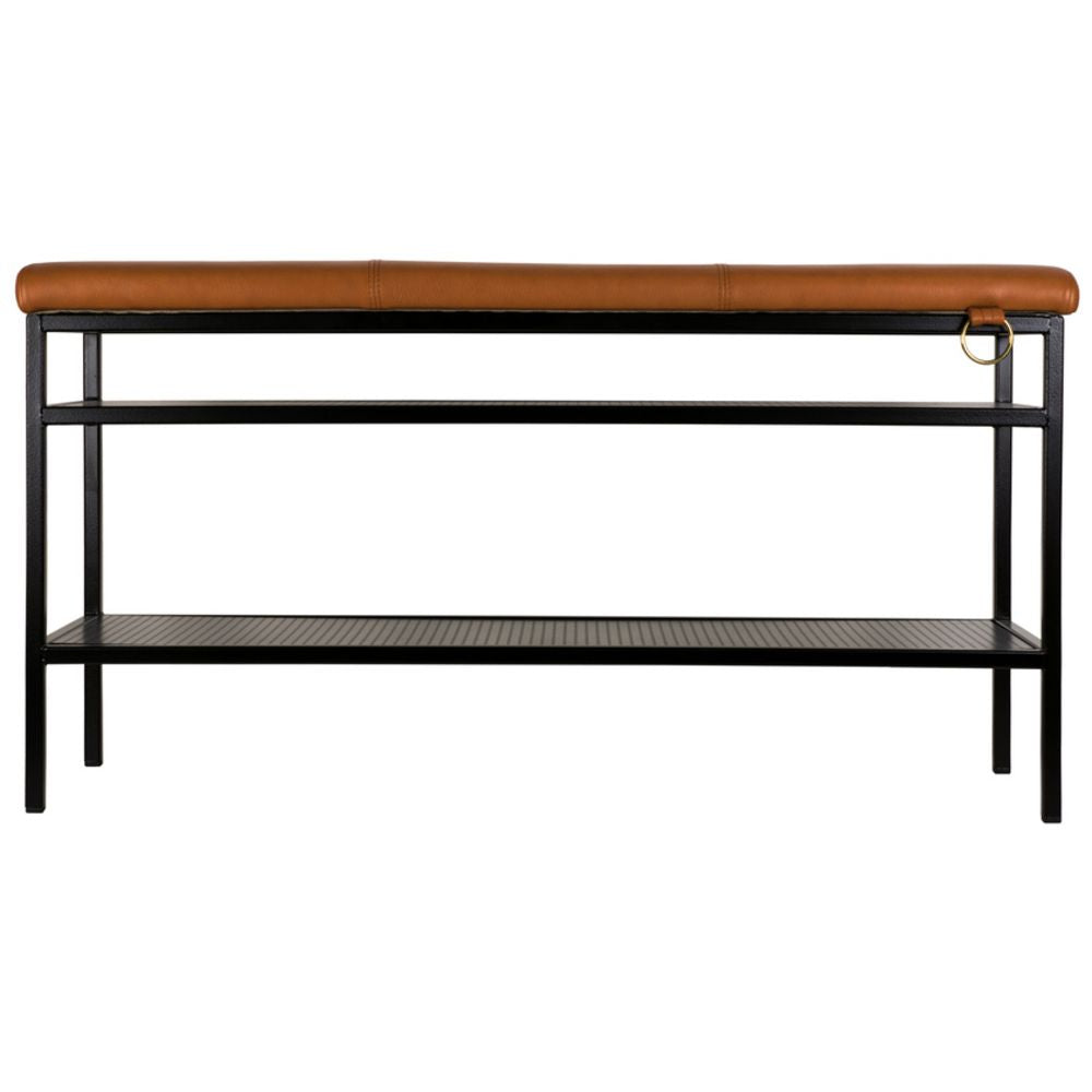 MAZE Bench Nancy Black Cognac