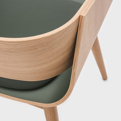ALMOST Armchair 4th Oak Cushion Green