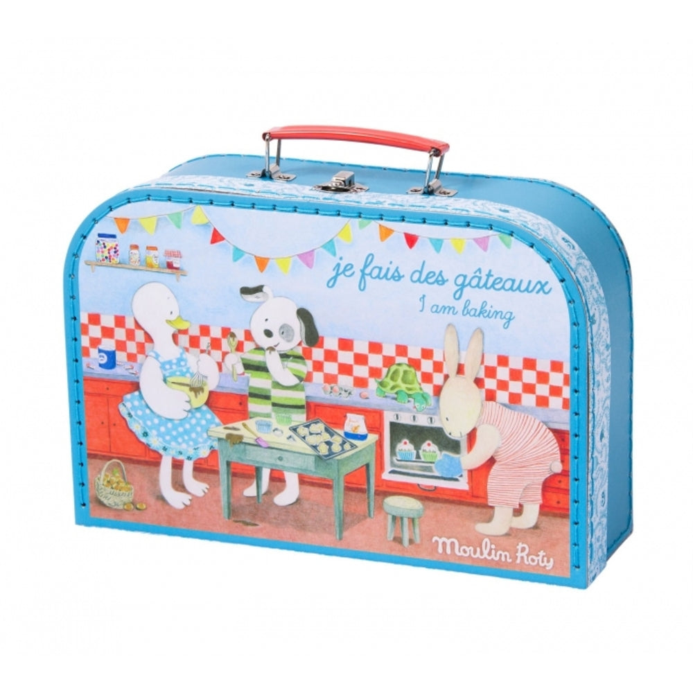 "MOULIN ROTY Suitcase Baking set ""La Grande Famille"""