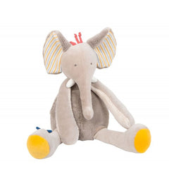"MOULIN ROTY Baby Comforter Elephant ""Les Papoum"""
