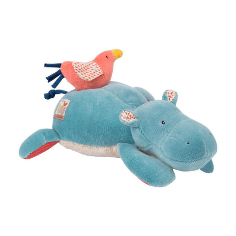 "MOULIN ROTY Musical Soft Toy Hippo ""Les Papoum"""